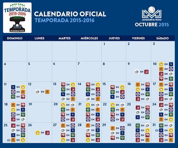 Calendario Liga Mexicana 2016 | Calendar Template 2016